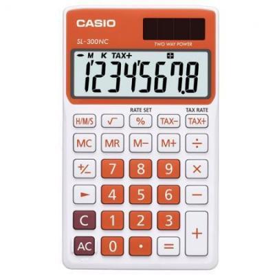 Casio calculator: SL-300NC - Oranje, Wit