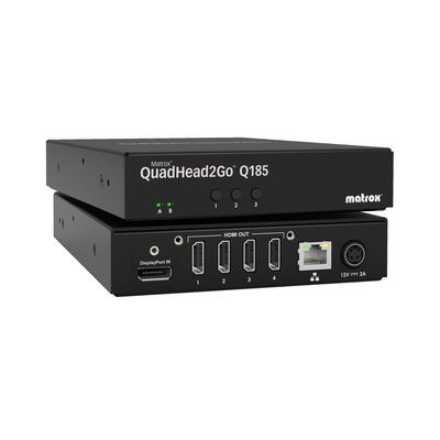 Matrox QuadHead2Go Q185 Multi-Monitor Controller Appliance / Q2G-DP4K - Zwart