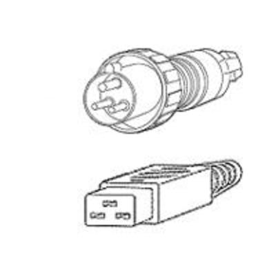 Cisco AC Power Cord (International), 16 A, 250 VAC, 4.1 m Electriciteitssnoer - Zwart