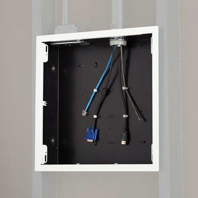 Chief Large In-Wall Storage Box with White Flange Muur & plafond bevestigings accessoire - Zwart