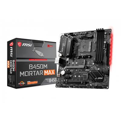 MSI ATX, AM4, B450, 4x DDR4, 4x SATA3, 2x M.2, 2x PCI-E x16, Gigabit Realtek 8111H, USB 2.0, USB 3.2, HDMI, .....