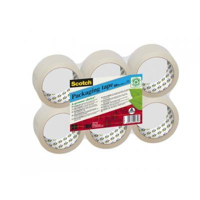 Scotch transparante tape: Verpakkingstape Green Ch. 50mmx66m tr/p6