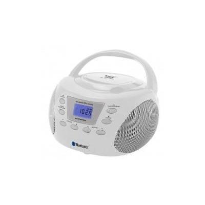 Soundmaster CD-radio: CD-Boombox with Bluetooth3.0, PLL FM/FM-stereo radio, White