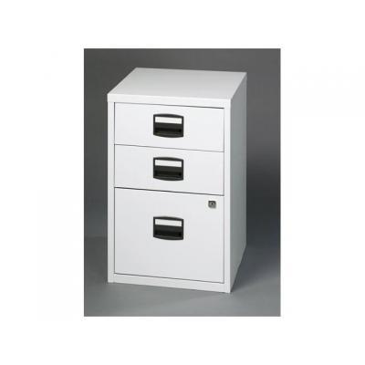 Bisley archiefkast: Ladenkast 3 laden, 2laag-1hoog,lichtgrys