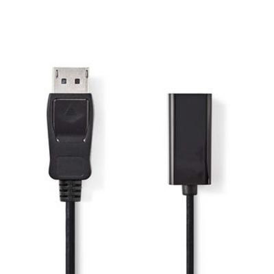 Nedis DisplayPort - HDMI™-kabel, DisplayPort male - HDMI™-uitgang, 0,2 m, Zwart