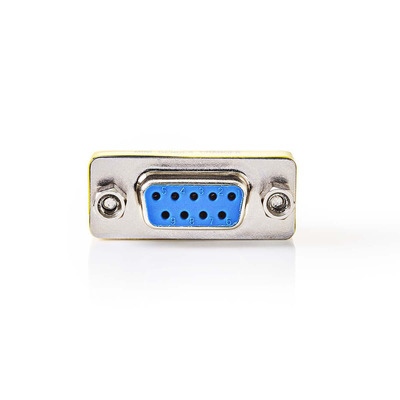 Nedis D-Sub-koppeling, D-Sub 9-pins female - D-Sub 9-pins female, Metaal Kabel adapter