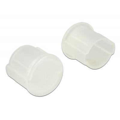 Delock fitting-cove: Dust Cover for BNC female 10 pieces transparent - Transparant