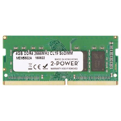 2-Power 4GB DDR4 2666MHz CL19 SoDIMM Memory RAM-geheugen