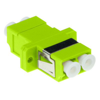 ACT LC-LC, 0.1 dB, Lime green Fiber optic adapter - Groen, Limoen