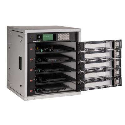 Lockncharge FUYL Tower 5 Portable device management carts & cabinet - Zwart,Grijs