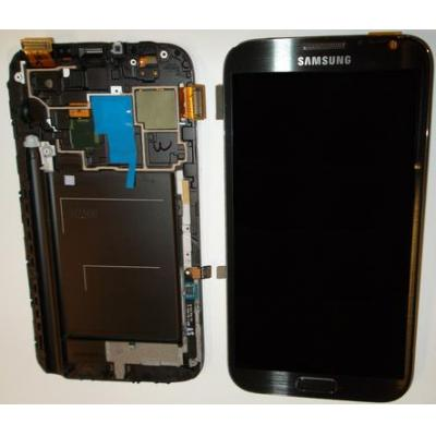 Samsung mobile phone spare part: GT-N7100 Galaxy Note 2, Complete Front+LCD+Touchscreen, brown