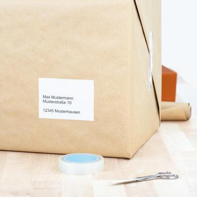 Herma adreslabel: Address labels Premium A4 78.7x139.7 mm white paper matt 400 pcs. - Wit