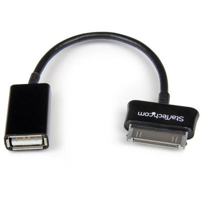 StarTech.com USB OTG Adapter voor Samsung Galaxy Tab Kabel - Zwart