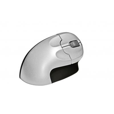 BakkerElkhuizen Grip Mouse Wireless computermuis - Zwart, Zilver