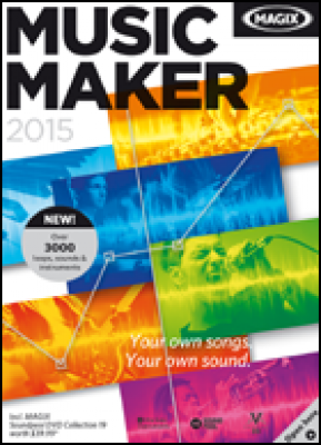 Magix audio software: Music Maker 2015 (download versie)