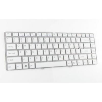HP Keyboard (International), White notebook reserve-onderdeel - Wit