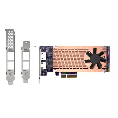 QNAP 2x 2.5GBASE-T, 2 x M.2 2280, PCIe Gen3 x4, 152.65x68.9x20.6 mm Netwerkkaart