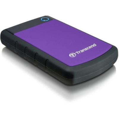 "Transcend StoreJet 25H3, 1TB, micro USB 3.1 Gen 1, 2.5"" HDD, Purple Externe harde schijf - Zwart,Paars"