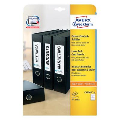 Avery C32266-25 Etiket - Wit