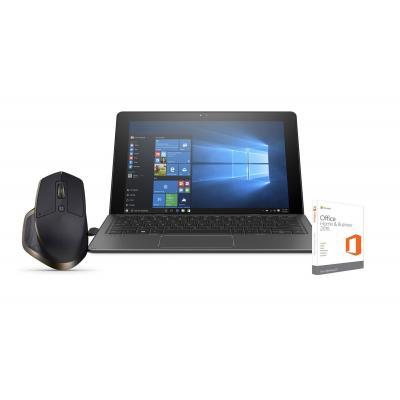 """Hp laptop: Pro x2 612 G2 - 12"""" 128GB SSD Office Home & Business bundel + GRATIS Logitech muis - Zwart"""