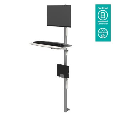 Dataflex Viewmate werkstation - wand 732 Multimedia kar & stand - Zilver