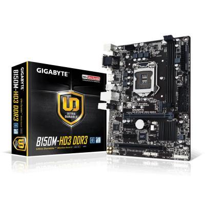 Gigabyte moederbord: GA-B150M-HD3 - Intel® B150 Express Chipset, 1 x M.2 Socket 3, 2 x DDR3 DIMM 1866/1600/1333 MHz, 1 .....