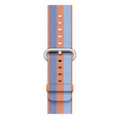 Apple : Bandje van geweven nylon - Oranje (42 mm) - Blauw, Oranje