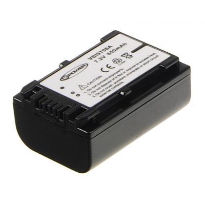 2-power batterij: Camcorder Battery 6.8v 980mAh - Zwart