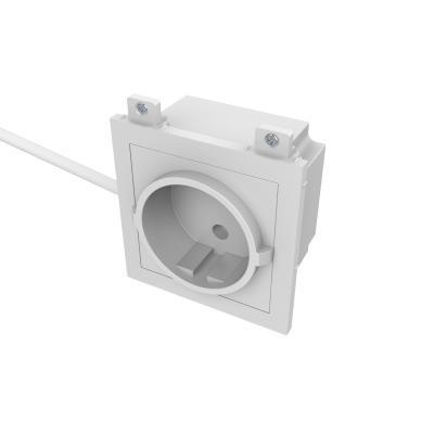 Vision wandcontactdoos: EU Power module - Wit