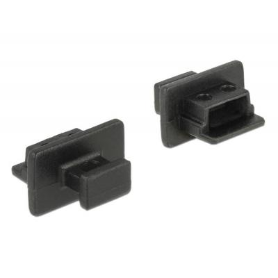 Delock fitting-cove: Dust cover male for USB 2.0 Mini-B female, 10 pcs - Zwart