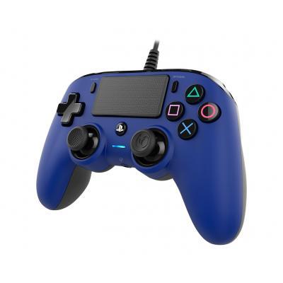 NACON Officieel gelicenseerde Wired Compact Controller voor PS4 - blauw