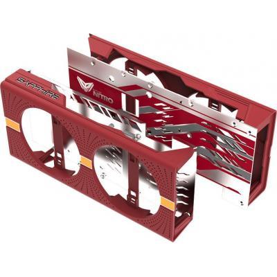 Sapphire Nitro Gear Backplate & Shroud, Crimson Fire Hardware koeling - Grijs, Rood