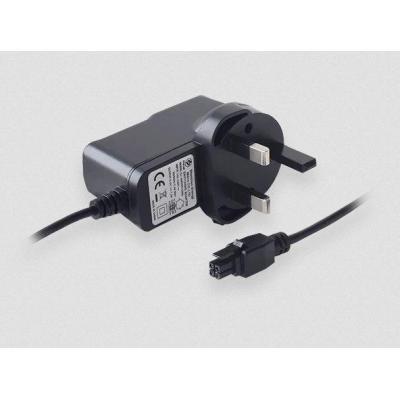 Teltonika UK power supply, 9W, 4 pin, 100-240 VAC, 50/60 Hz, 0.4 A, 9 VDC Netvoeding - Zwart