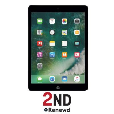 2nd by renewd tablet: Apple iPad Air 1 Wifi refurbished door 2ND - 16GB Spacegrijs - Zwart (Refurbished AN)