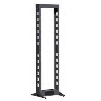"""Retex Open 4 post high density, 19"""", U/HE 42, steel 2 mm, load: 500 Kg Rack - Zwart"""