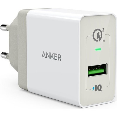 Anker PowerPort+1 met Quick Charge 3.0 Wit Oplader