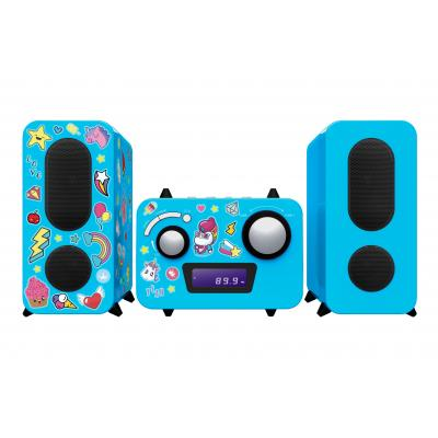 Bigben interactive home stereo set: PLL, FM, LCD, Aux in 3.5mm, 230V - Blauw