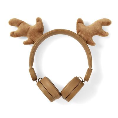 Nedis Bedrade Koptelefoon, 1,2 m Ronde Kabel, On-Ear, Afneembare Magnetische Oren, Rudy Reindeer, Bruin Headset