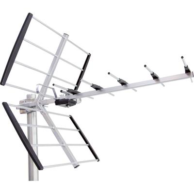 Maximum UHF, F, 470 - 790 MHz, 12 - 18 dB, 75 Ohm, 1.4 kg Antenne - Zwart, zilver