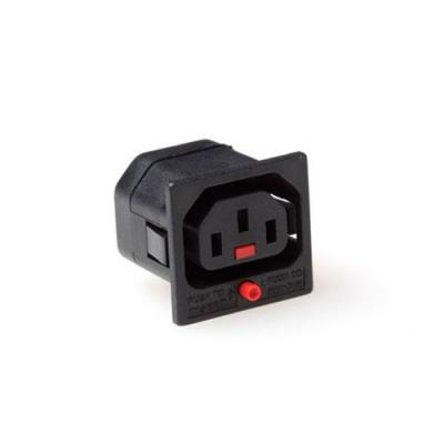 Advanced cable technology electrische connectorsamensteller: IEC Lock PA050 C13 Net Entree female met vergrendeling