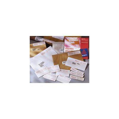 Avery adreslabel: Frankeeretiketten, wit, 140,0 x 38,0 mm