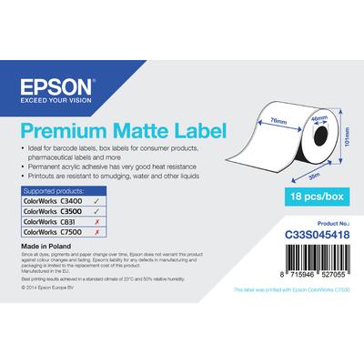 Epson Premium, 76mm x 35m, 163 g/m² Etiket