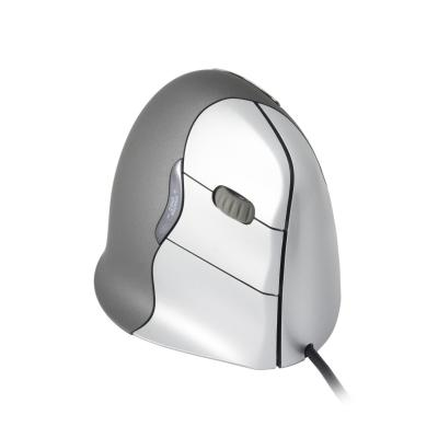 R-go tools computermuis: VerticalMouse 4 USB - Medium/Large - Rechtshandig - Grijs, Wit