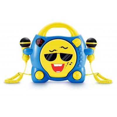 Bigben interactive CD speler: Big Ben, Portable CD Player met 2 Microphones - My Milo (Blauw / Geel)