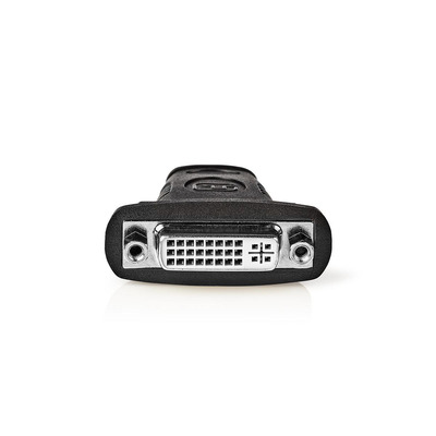 Nedis HDMI™ - DVI-Adapter, HDMI™-Connector - DVI-D 24+1-Pins Female, Zwart - Zwart, Roestvrijstaal