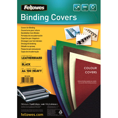 Fellowes binding cover: Delta - Zwart