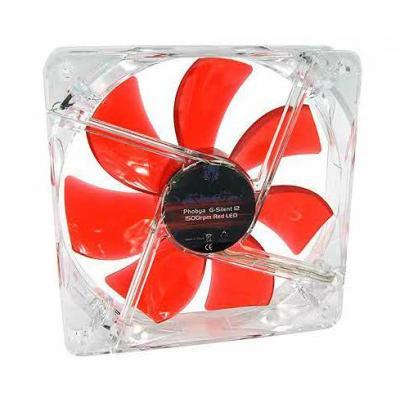 Phobya G-Silent 12 Hardware koeling - Rood, Transparant