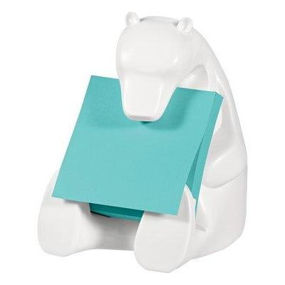 Post-It Pop-up Note Dispenser for 3 in x 3 in Notes, Bear design, White Notitiepapier dispenser