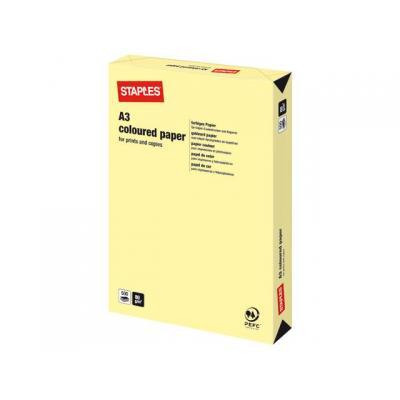 Staples papier: Papier SPLS A3 80g kanarie geel/pak 500v