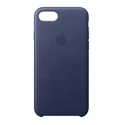 Apple mobile phone case: Leren hoesje voor iPhone 8/7 - Middernachtblauw
